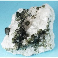 Uvite Tourmaline on Magnesite