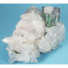 Elbaite Tourmaline on Quartz
