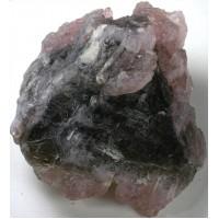 Crystallized Rose Quartz on Smoky Quartz