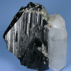 Wolframite with Quartz, Arsenopyrite, and Calcite