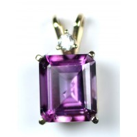 Amethyst and Diamond in 14Kt Gold