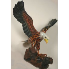 Eagle hand carved and hand painted in wood