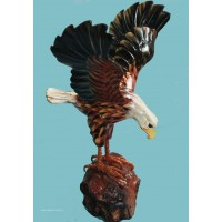 Eagle, hand carved and hand painted in wood