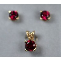 "Grape"" Garnets set in 14Kt Gold"