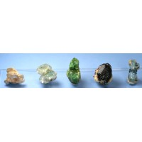 Thumbnail Collection of five pegmatite minerals