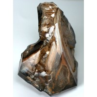 Quartz Enhydro with skeletal faces and phantoms