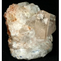 Topaz and Quartz on albite