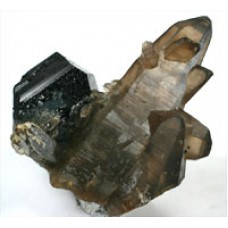 Tourmaline, var. Schorl with Smoky Quartz