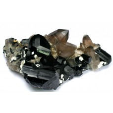 Tourmaline, var. Shorlite (Schorl) with Quartz