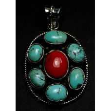 Turquoise (Persian) and Coral