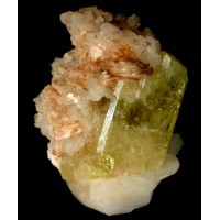 Brazilianite on Albite with Muscovite