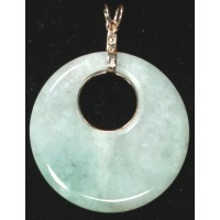 Jadeite Bi Pendant with 14Kt Gold