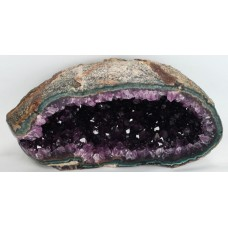 Amethyst Geode with Agate Rim