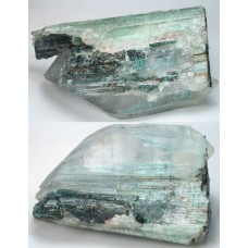 Tourmaline var. Elbaite epitaxial with Quartz Crystal