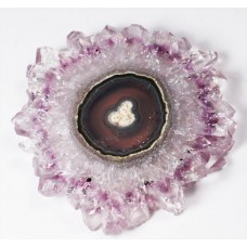 Amethyst/Agate Polished Stalactite Section