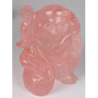 Rose Quartz Bhudda carving