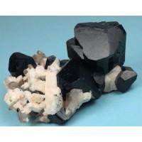 Schorl (Schorlite) Tourmaline with Orthoclase