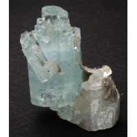 Beryl, var. Aquamarine with Albite