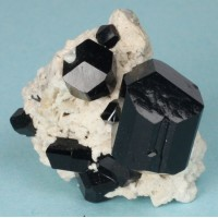 Schorl (Schorlite) Tourmaline with Orthoclase
