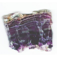 Fluorite, Polished slice
