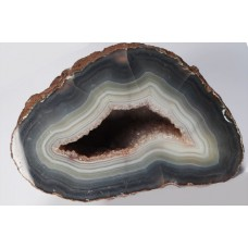 Polished Agate with Quartz Geode