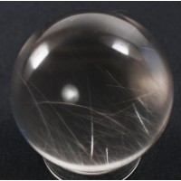 Quartz Polished Sphere with Rutile