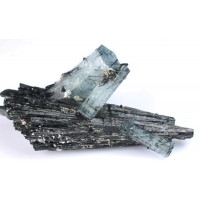 Beryl, var. Aquamarine with Schorl Tourmaline