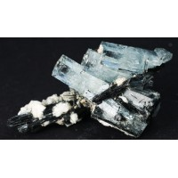 Beryl, var. Aquamarine with Schorl Tourmaline and Orthoclase