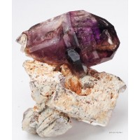 Amethyst/Smoky Quartz with Orthoclase