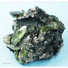 Titanite on Adularia