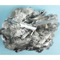 Stibnite and Calcite