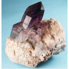 Amethyst on Orthoclase