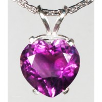 Amethyst Heart in Sterling Silver