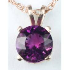 Amethyst set in 14Kt Gold Pendant