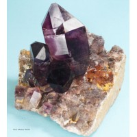Amethyst Scepter group on matrix