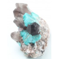 Amazonite with Smoky Quartz