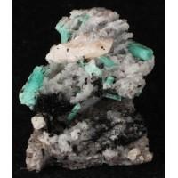 Scheelite with Emeralds