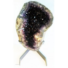 Amethyst Geode on Custom Steel Stand
