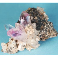 Amethyst Flower on Matrix