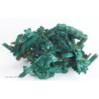 Malachite after Selenite