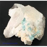 Aquamarine in Quartz
