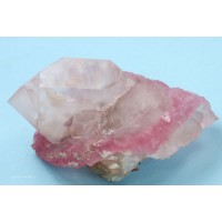 Quartz, var. Crystallized Rose Quartz
