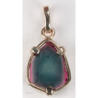 Watermelon Tourmaline in 14Kt Gold