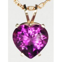 Amethyst Heart in 14Kt yellow Gold