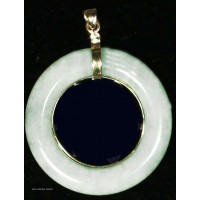 Jadeite Bi with 14Kt Gold Pendant