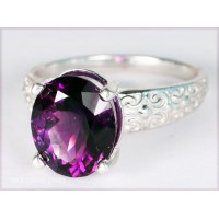 Amethyst in Silver Ring