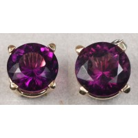Amethyst Earrings (14Kt Yellow Gold)