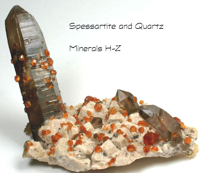 Quartz-with-Spessartite